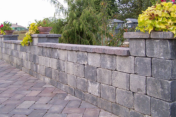 Paver retaining wall design in Olympia
